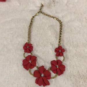 Chloe & Isabel Red Floral Statement Necklace